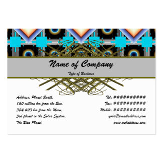 Shapes Rotated Pack Of Chubby Business Cards
