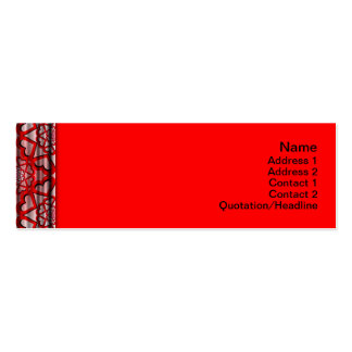 Shapes Rotated Pack Of Skinny Business Cards