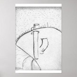 Shapesculpturesky Poster
