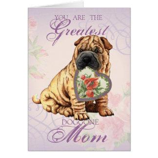 Shar-Pei Heart Mom Card