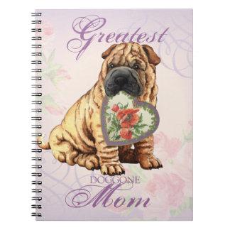 Shar-Pei Heart Mom Notebooks