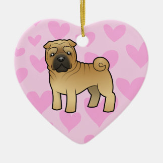 Shar Pei Love (add your own message) Ceramic Ornament