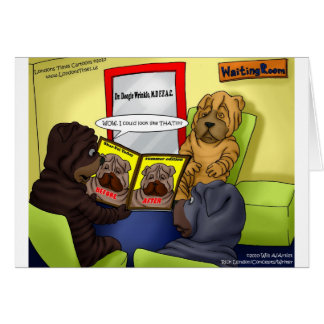 Shar-Pei Plastic Surgery Funny Tees Mugs & Gifts Card