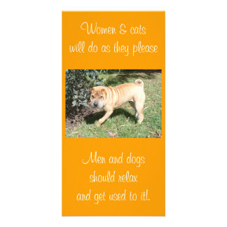 Shar Pei Rescue Blank CArd Customised Photo Card