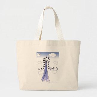 ShardArt Blue Skies by Tony Fernandes Large Tote Bag