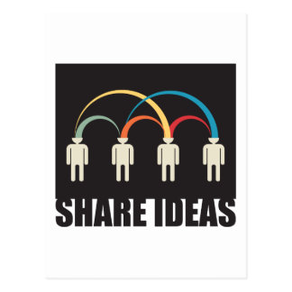 share ideas postcard