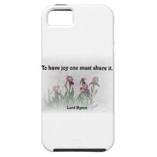Share Joy Quote with Purple Irises iPhone 5 Case