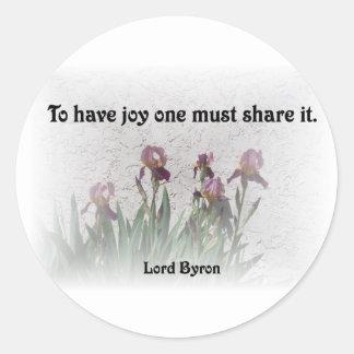 Share Joy Round Sticker