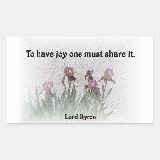 Share Joy Rectangle Sticker