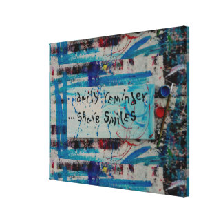 share smiles canvas print