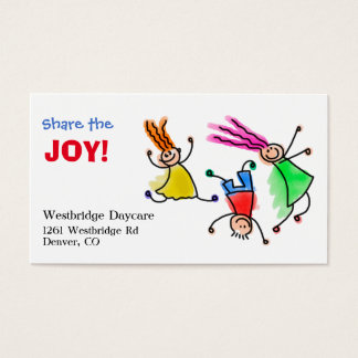 Share the Joy Childcare Business Card