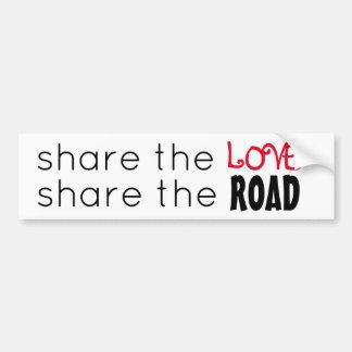 Share the Love/Share the Road Bumper Sticker