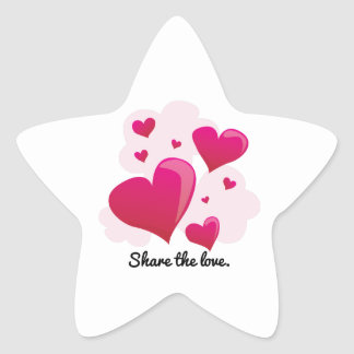 Share The Love. Star Stickers