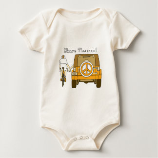 Share The Road Baby Bodysuit
