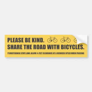 Share The Road Bicycle Safety Sticker Bumper Sticker