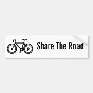 Share The Road Bicycling Bumper Sticker