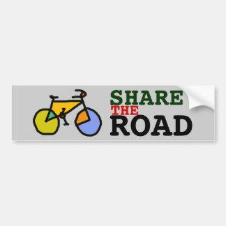 share the road ~ bike bumper sticker