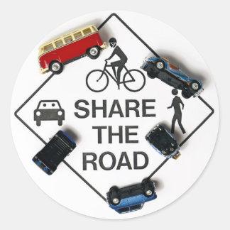 Share the road! round sticker