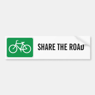 Share The Road with Bicycles Bumper Sticker