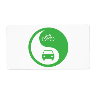 Share the Road Yin Yang Shipping Label