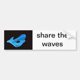 share the waves bumpersticker bumper sticker