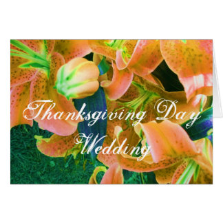 """Share This Thanksgiving Day Wedding"" Card"