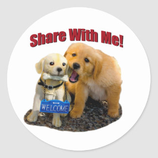 Share With Me Round Sticker