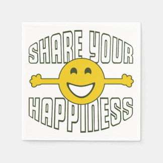 Share Your Happiness Disposable Napkin