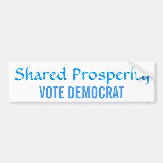 Shared Prosperity Vote Democrat Bumper Sticker