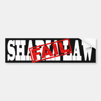 Sharia Law FAIL Bumper Sticker