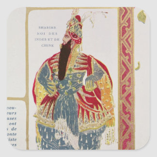 Shariar, King of the Indies and China Square Sticker