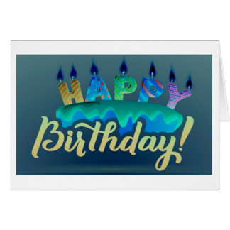 "**SHARING A BIRTHDAY WITH YOU** IS ""AweSome!!!!!!"" Card"