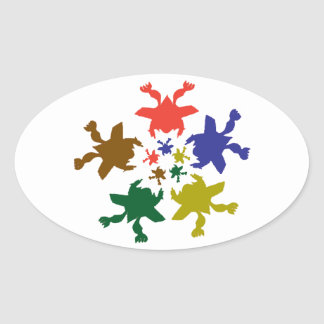 Sharing a Happy Dance Feeling - PRICELESS Oval Sticker
