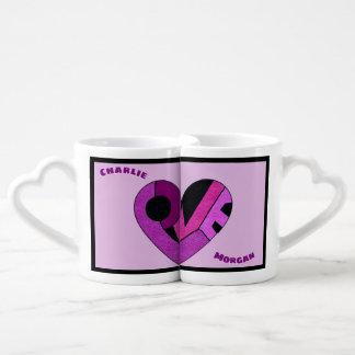 Sharing a Heart Full of Love Personalised Coffee Mug Set
