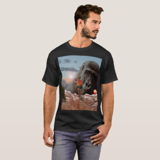 Sharing An Apple With A Gorilla, Mens T-Shirt