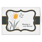 Sharing In Your Sorrow Sympathy In Black And Gold Card