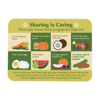 Sharing is Caring Dog Friendly Food Magnet