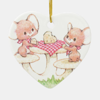 Sharing Is Caring Spring Summer Mice Ceramic Heart Decoration