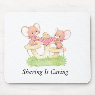 Sharing Is Caring Spring Summer Mice Mouse Pad