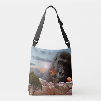Sharing Lunch With An Ape, Crossbody Bag