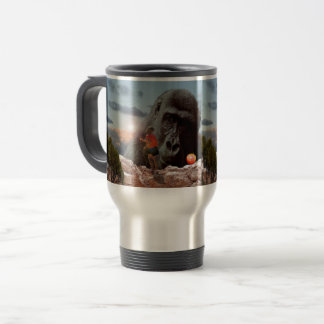Sharing Lunch With An Ape, Travel Mug