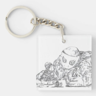 Sharing Stories Drawing Keychain