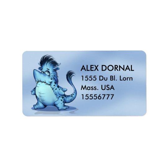 SHARK ALIEN CARTOON Address Labels