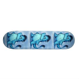 "SHARK ALIEN CARTOON Skateboard 7 7/8"""