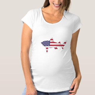 "Shark ""American Flag"" Maternity T-Shirt"