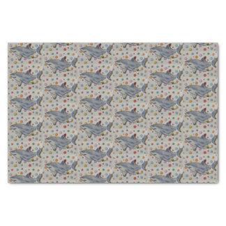 Shark and Polka Dots Tissue Paper