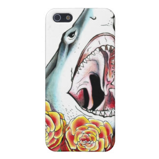 Shark and Roses iPhone 5 Cases