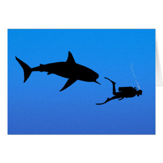 Shark and SCUBA Card