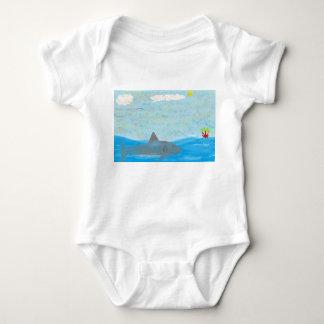 Shark and Wilson Baby T Baby Bodysuit