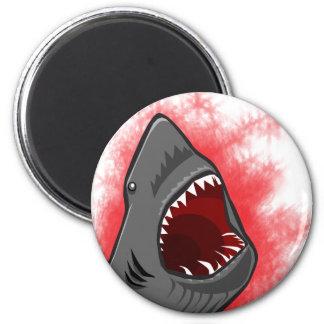 Shark Attack 6 Cm Round Magnet